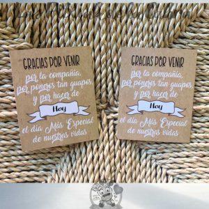 Etiquetas para detalles de boda gracias por acompañarnos