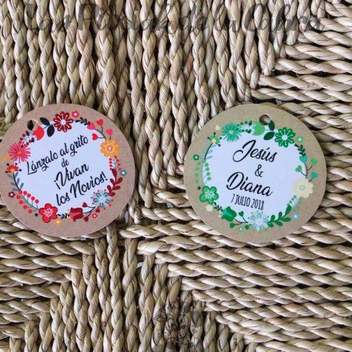 Etiquetas para bodas lánzalo arroz