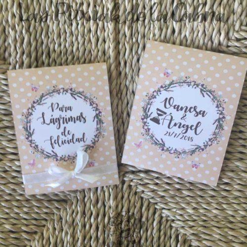 Lágrimas de felicidad para bodas con diseño de lunares marrón