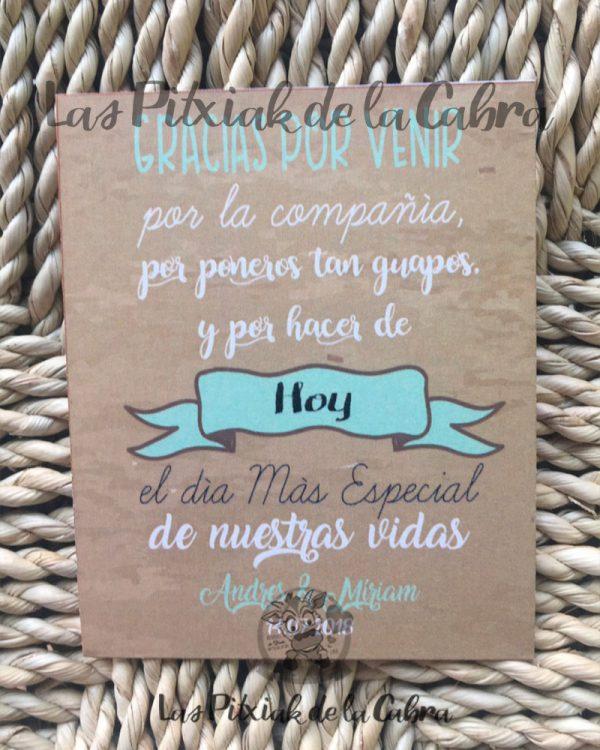 Tarjetas para detalles de boda en verde menta