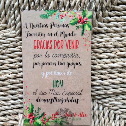 Tarjetas navideñas para bodas invernales