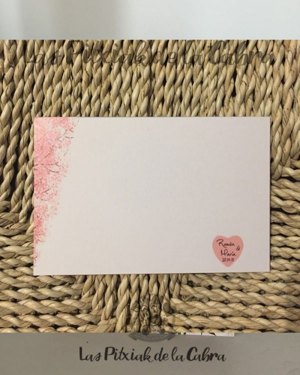 Tarjeta para bodas en blanco para rellenar a mano