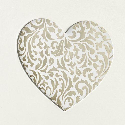 Corazón de boda libro de firmas