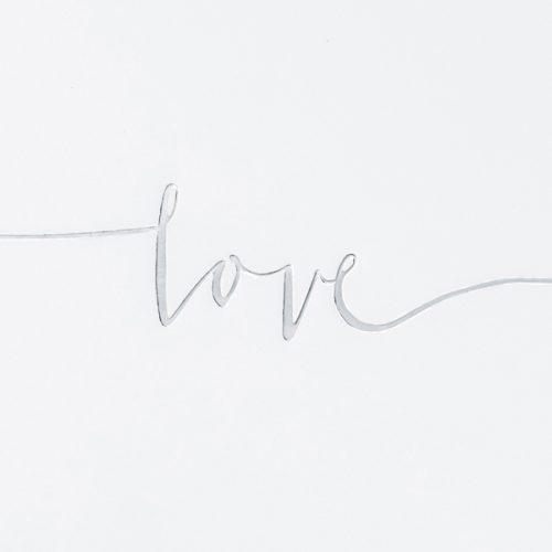 Libro de firmas love plata
