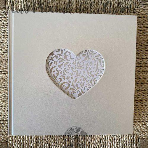Libro de firmas para boda corazón