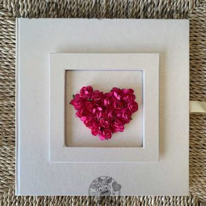 Libro de firmas para boda corazón rosa