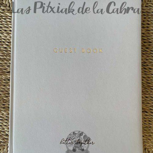 Libro de firmas para boda guess book sencillo blanco