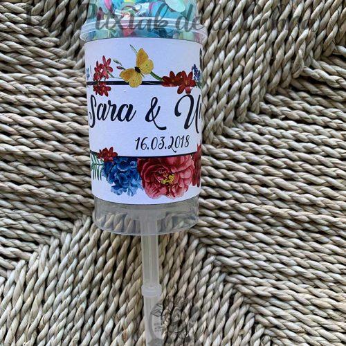 Pop up de confeti para bodas con confeti de colores