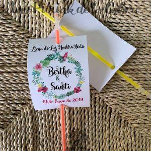 Barritas luminosas para detalles de boda pulsera tropical