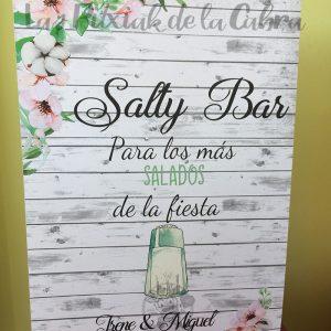 Cartel para mesa salada en boda