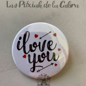 Chapas para detalles de boda i love you