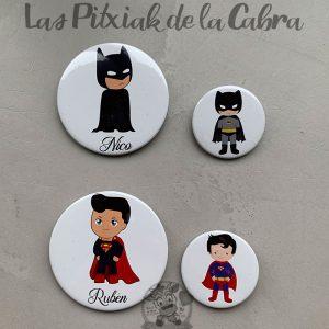 Chapas para detalles de boda super héroes