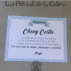 Diploma para el mejor amigo en la boda