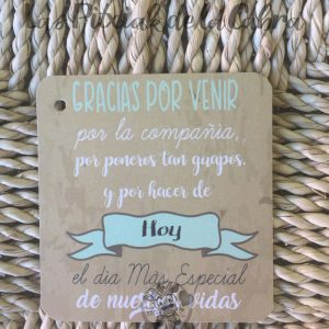 Etiquetas para detalles de boda gracias