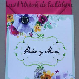 Invitaciones de boda con flores bonitas