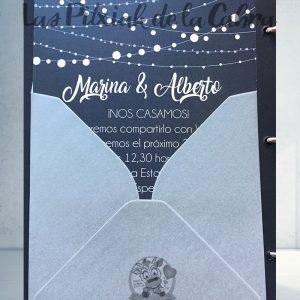 Invitaciones de boda cadenas de lunares