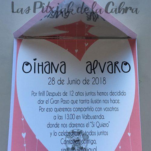 Invitaciones de boda cortina de corazones