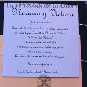 Invitaciones de boda clásica vintage