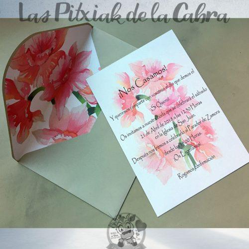 Invitaciones de boda narcisos