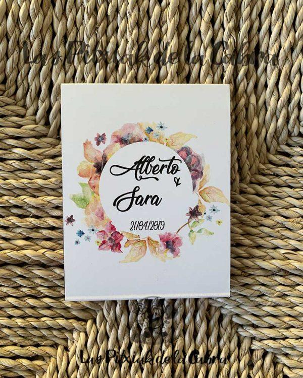 Pañuelos para lágrimas de felicidad con estampado de flores en redondo