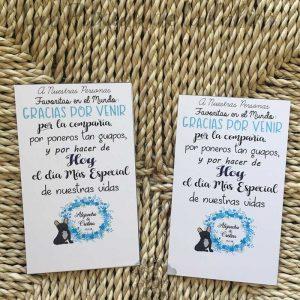 tarjetas de agradecimiento para bodas con texto