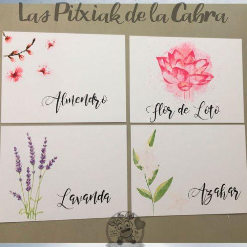 Meseros para bodas con flores flor de loto