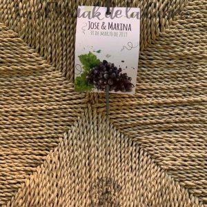 Bengala para boda con diseño uvas