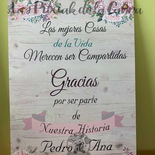 Cartel para bodas las mejores cosas de la vida