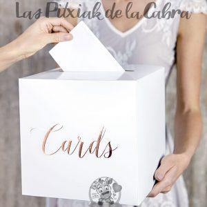 Caja para sobres o cartas de la boda cards