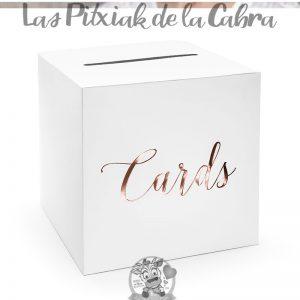 Caja para sobres o cartas de la boda