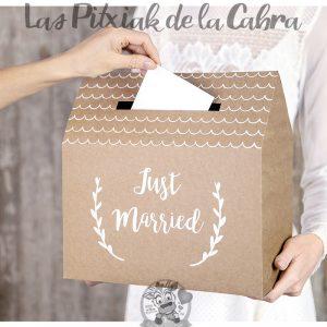 Caja para guardar los sobres de la boda