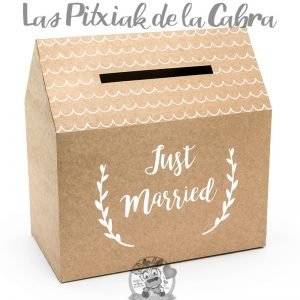 Caja para guardar los sobres de la boda just married