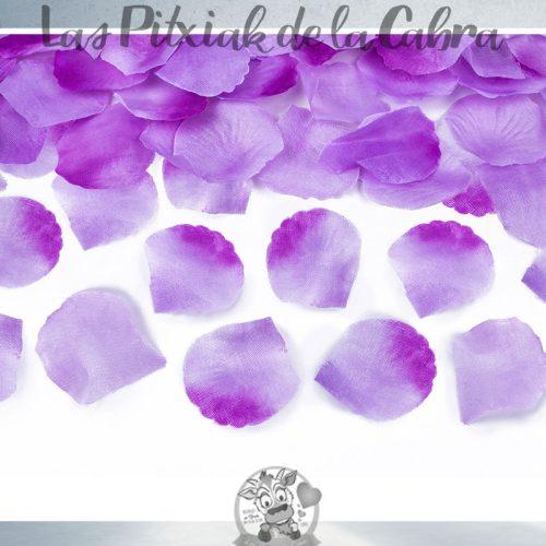 Cañón para bodas de pétalos de papel lilas
