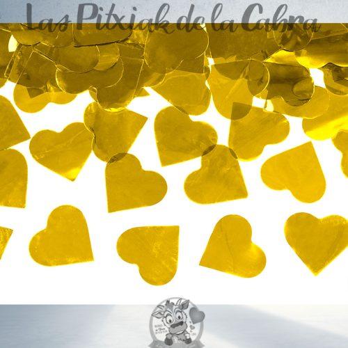 Cañón de corazones dorados para bodas