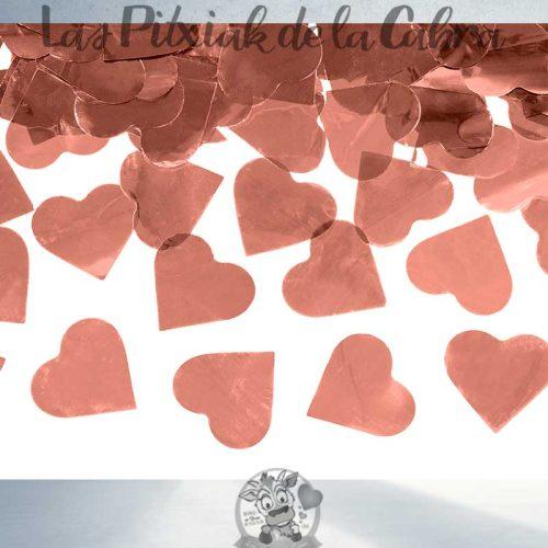Cañón de corazones oro rosa