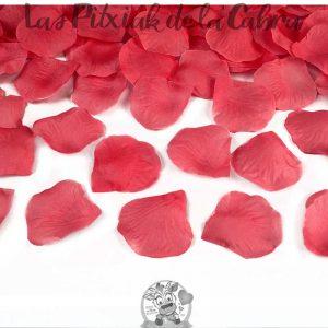 Cañón de pétalos rojos boda