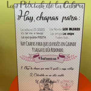 Cartel para chapas de boda hay para todos