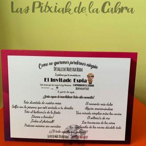 Cartel para juego invitado espía boda
