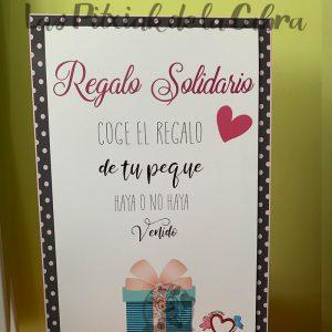 Cartel de boda regalo solidario