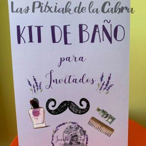 Cartel para baños boda invitados
