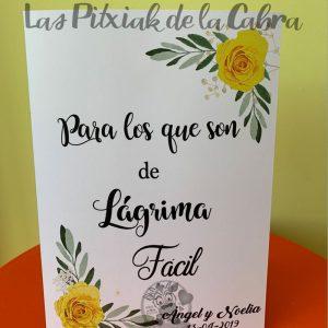 Cartel para los que son de lágrima fácil amarillo