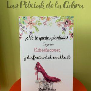 Cartel para bodas no te quedes plantada