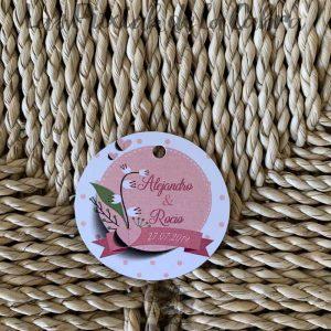 Etiquetas para detalles de boda con novios