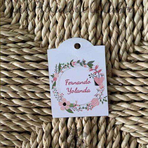 Etiqueta para invitaciones de boda con nombres invitados