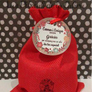 Etiquetas para detalles de boda en valenciano