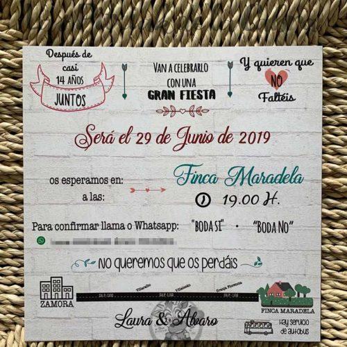 Invitación de boda mis papis se casan