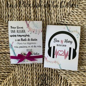 Pañuelos para boda lágrimas de felicidad musical