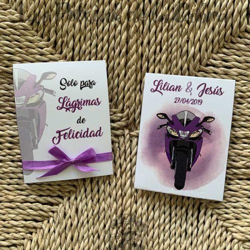 Pañuelos para boda lágrimas de felicidad boda motera