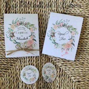 Conjunto para boda de lágrimas de felicidad y etiquetas