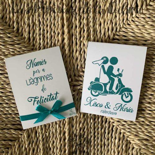 Pañuelos para boda lágrimas de felicidad en catalán